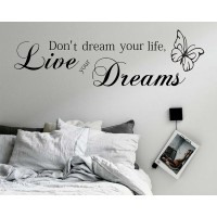 But Live Your Dream NR 4 Bedroom Wall Tattoo dreams not your life