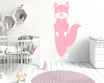 Squirrel Growth Chart Decal