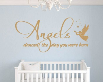Angels Danced Quotes Wall Decal