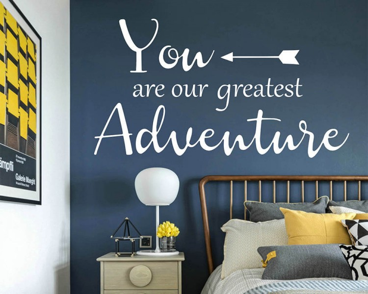 You Are Our Greatest Adventure Quote Decal