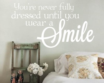 Smile Quote Decal