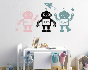 Three Robots Wall Decal