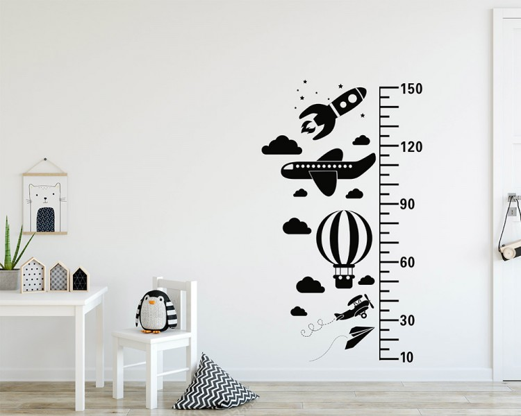 Blue Sky Growth Chart Decal