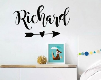 Personalized Name with Arrow Decal