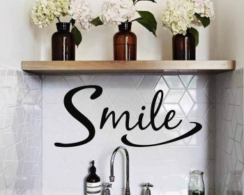Smile Inspirational Removable Home Sticker Decor