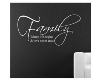 Family: Love never Ends Quote