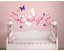 Butterfly Personalized Name Wall Sticker