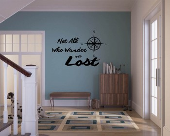 Not all Who Wander Are Lost Compass Quote Decal