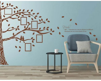 Family Branches with Photo Frames Decal