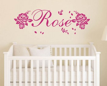 Girls Name Roses Decal Set