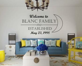 Family Name & Welcome Decal