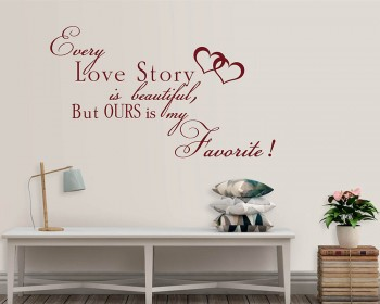 Love Story Wall Decal