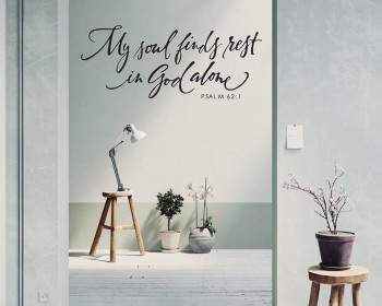 Scripture Wall Decal - My soul finds rest in God alone