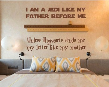 Star Wars and Harry Potter Themed Parody Design