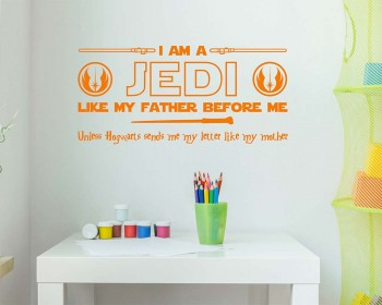 Star Wars Jedi Harry Potter Wall Decal Sticker