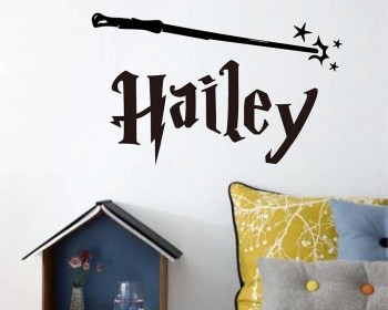 Harry Potter Personalized Vinyl Decal with Wand
