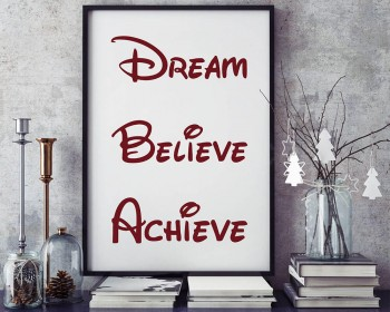 Dream, Believe, Achieve Classroom Door Decal
