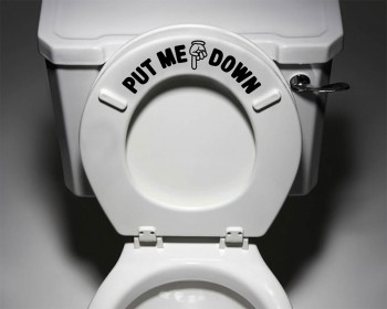Put Me Down Decal Bathroom Toilet Seat Vinyl Sticker Sign Decal