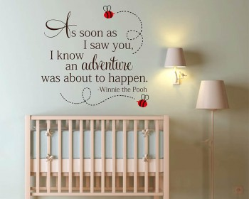 As soon as I saw you - Winnie the Pooh Wall Quote