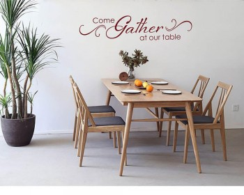 Come Gather at our Table Decal with Scroll design - Dining Room  - Kitchen Quote