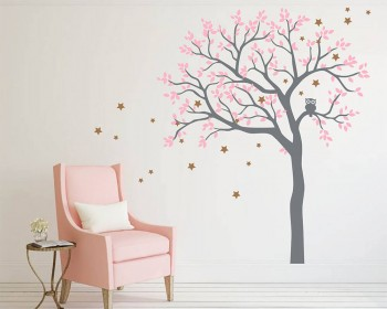 Owl Hoot Star Tree Wall Stickers
