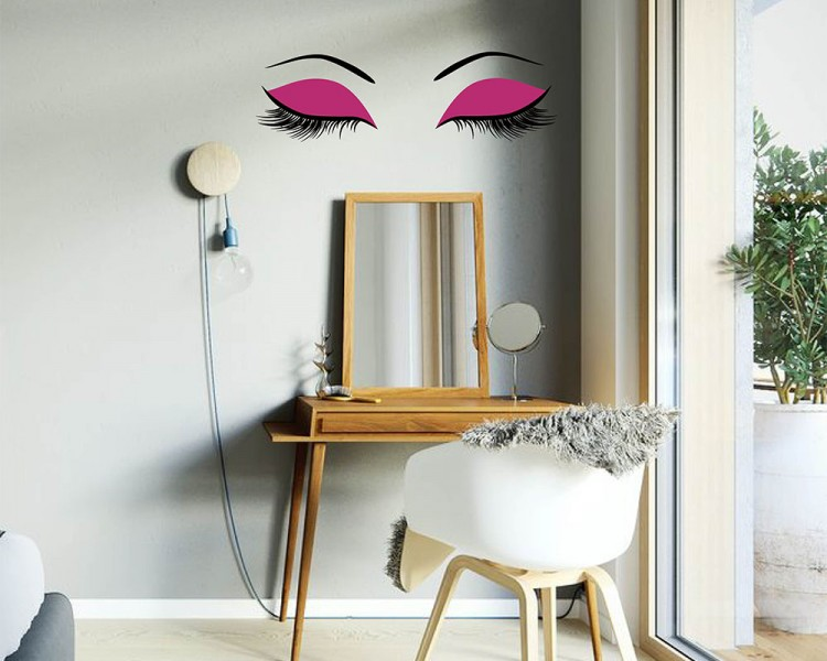 Eyelashes Wall Decal