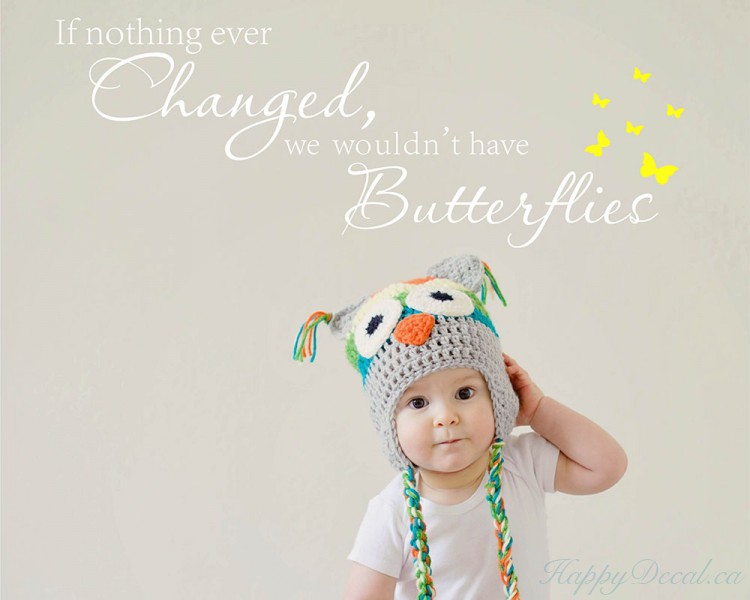 Butterfly Quote Girl's Room Decal