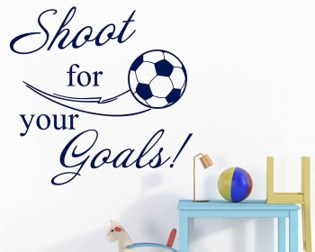 Shoot for Your Goals Football Quote