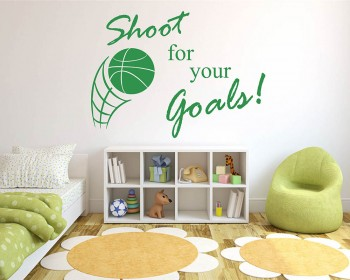 Shoot for Your Goals Basketball Quote