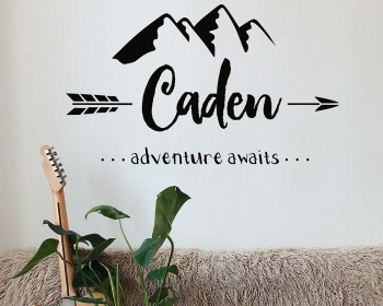 Adventure Awaits Mountain Nursery Decal