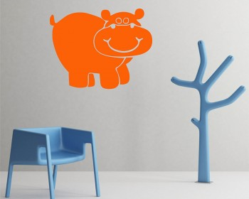 Hippo Nursery wall decal