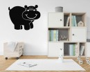 Hippo Nursery wall decalr