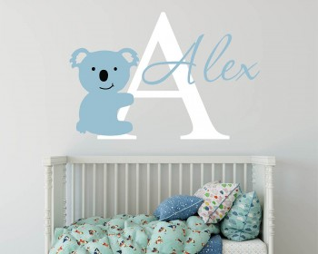Koala Name Wall Decal