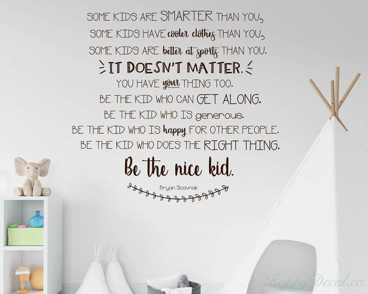 Be The Nice Kid Wall Decal