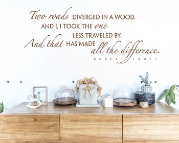 Robert Frost Quote Wall Decal