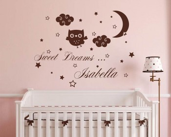 Sweet Dreams Name Nursery Decal