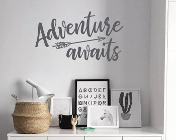 Adventure Awaits Arrow Decal
