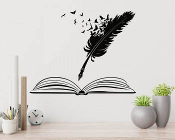 Feather Pen and Book