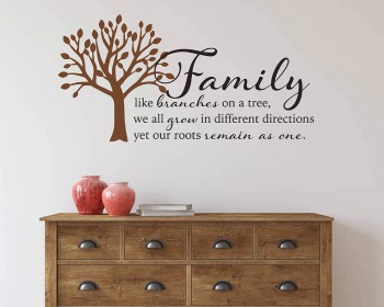 Family like branches on a tree Wall Quote