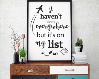 It's On My List Quote Decal