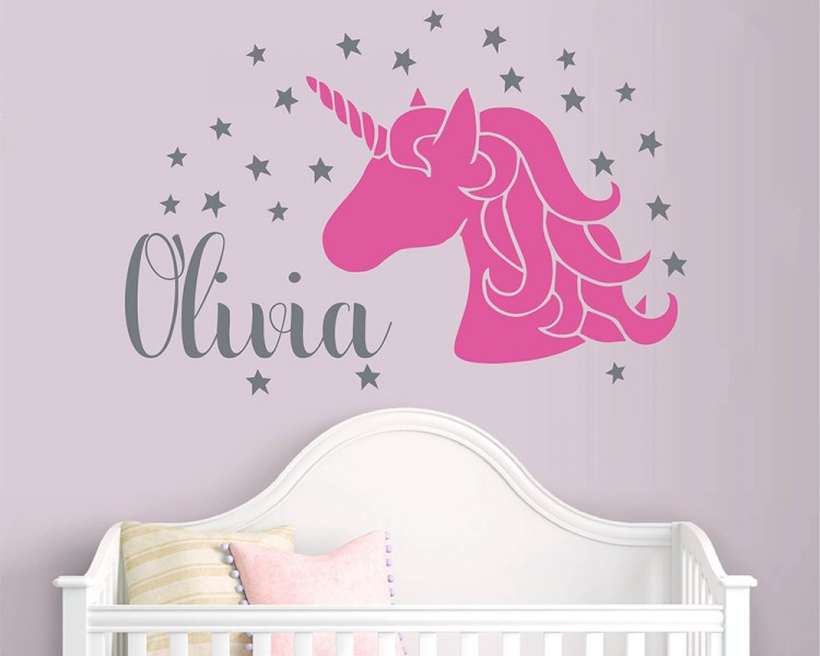 Unicorn Name Decal