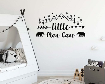 Little Man Cave Woodland Decal