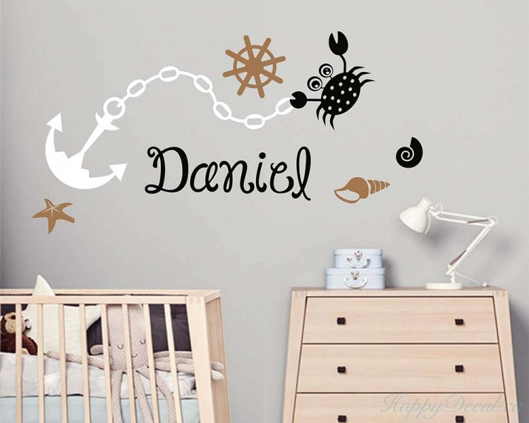 Nautical Personalized Name Decal