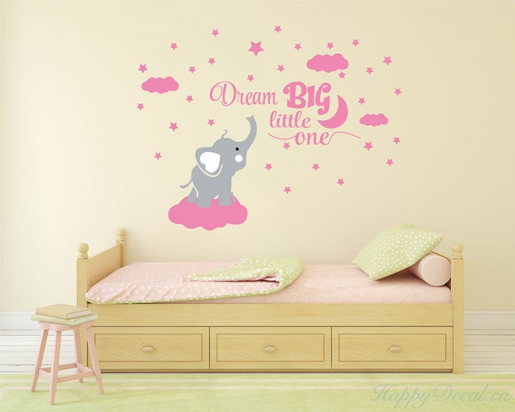 Dream Big Little One Elephant Decal