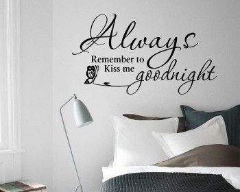 Always Remember to Kiss Me Goodnight Decal