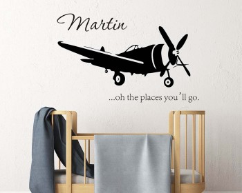 Airplane Name Decal