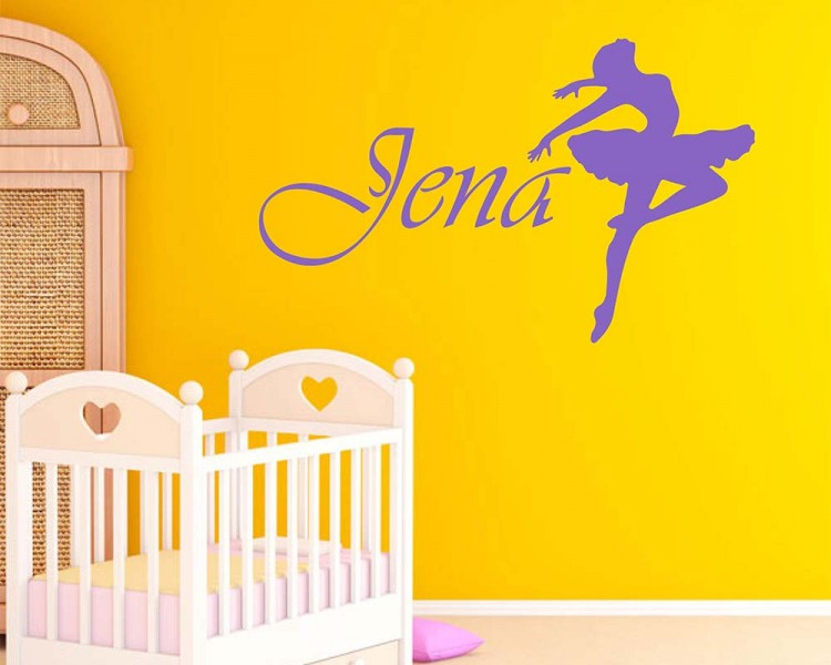 Ballerina Custom Name Decal