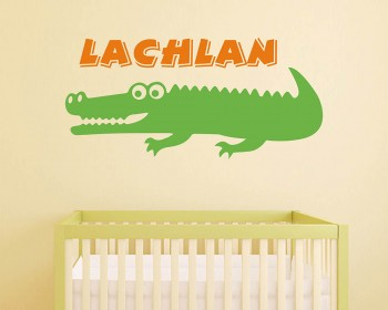 Custom Crocodile Name Wall Decal