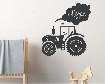 Tractor Kids Name Decal