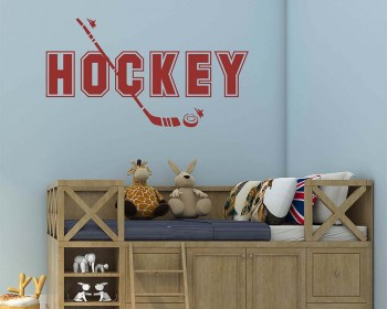 Hockey Sports Wall Decal